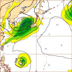 西欧進路予想台風6号