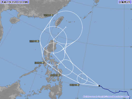2015気象庁台風6号