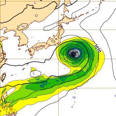 西欧台風11号13niti9ji