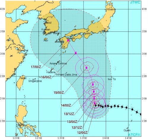 米軍台風11号