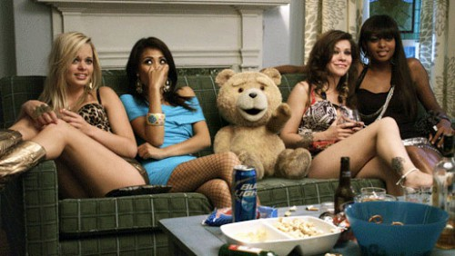 ted with girls
