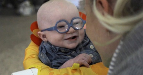glasses-baby-sees-mother-first-time-smiles-leopold-wilbur-reppond-4b